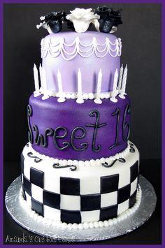 Purple Sweet 16 Birthday Cakes   Amanda's Custom Cakes: Sweet 16 Cake