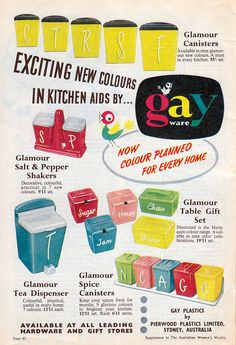Cool to see this vintage add. My Mum had the tea dispenser wow so log ago now - lovely an gay ware