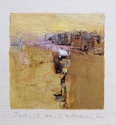 Jan. 12 2017  Original Abstract Oil Painting  by hiroshimatsumoto