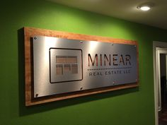 Professional, eye-catching signs generate business and brand recognition for new clients. Office Signage, Office Entrance, Office Logo, Office Name Plate, Metal Signage, Outdoor Signage, Interior Window Trim, Commercial Signs, Wall Logo