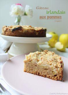 Irish Apple Cake ou le gâteau irlandais aux pommes pour la Saint Patrick (vegan) • Cook A Life! by Maeva
