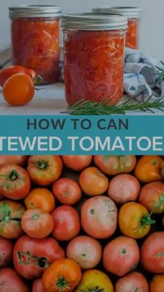 This step by step tutorial will show you how easy Canning Stewed Tomatoes can be. Canning crushed tomatoes can be pressure canned or water bath canning. Stewed Tomato Recipes, Canning Stewed Tomatoes, Recipes With Diced Tomatoes, Salsa Canning Recipes, Pressure Canning Recipes, Canning Crushed Tomatoes, Canning Vegetables, Pressure Cooking, Jelly Recipes