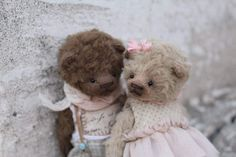 Malyavki By Moshkina Elena - Malyavki Teddy Bear Kids Rostik about 11 cm. Are made of rayon, within sawdust and metal granulate. Clothing is old, stained, removed.