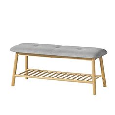 SoBuy® Bamboo Shoe Rack Storage Bench with Seat Cushion, Hallway Bedroom Upholstered Bench on OnBuy Cool Furniture, Outdoor Furniture, Outdoor Decor, Bamboo Shoe Rack, Upholstered Bench, Scandinavian Style, Seat Cushions, Dining Bench, Ottoman
