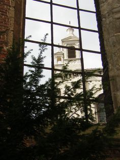 view from the tower at the church
