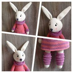 Kuscheltiere - Spielzeug Hase Häkelpuppe Kuscheltiere Häkeltiere - ein Designerstück von Elli-Ariana bei DaWanda