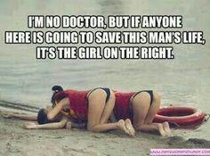 Reanimatie on beach two girls