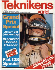 Ronnie Peterson i VM-special från Anderstorps Grand Prix 1975 ...