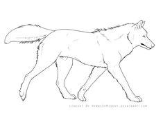 Wolf Lineart by Hymnsie.deviantart.com on @deviantART