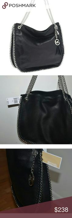 """Michael Kors Large CHELSEA Chain Leather Bag New. Tassel not included,  but MK hand tag is included. Large size 12""""x14"""" Michael Kors Bags Shoulder Bags"""