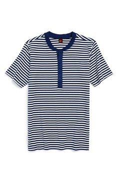 Tea Collection 'Harbor' Stripe Henley T-Shirt Toddler Boys