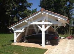 abri-voiture-bois-collonge-650x481 Car Shed, Gazebo, Garage Renovation, Barns Sheds, Lean To, Garden Furniture, Home And Garden, Yard, Outdoor Structures