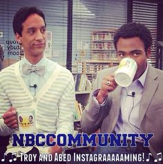 Troy & Abed instagramming :)