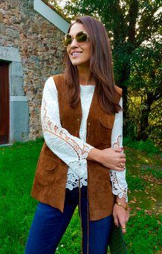 Paula Echevarría en su blog combina su look con Anillo Alexia de Maramz