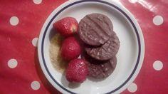 Fraises biscuits au chocolat