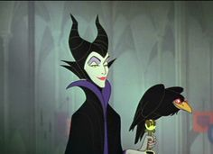 """Maleficent from Disney's Sleeping Beauty. Is she a troublemaking role model? I'm not sure, but I do like how she embraces (revels in?) her outcast/outlaw status and rejects the feudal system and its """"benevolent"""" king/queen.     I recently read that they're making a live-action movie about her backstory with Angelina Jolie. It's about time. I've always thought her rage at the fairies/kingdom/Aurora was justified. Disney Pixar, Disney Amor, Disney And Dreamworks, Disney Love, Disney Magic, Disney Villian, Walt Disney, Disney Puns, Punk Disney"""