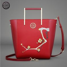 96.79$ Watch here - http://alif07.worldwells.pw/go.php?t=32786945298 - 2017 Pmsix new Chinese style original fashion leather embroidery beads handbag shoulder bag fashion leather lady bag