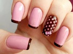 Get ready for some manicure magic as we bring you the hottest nail designs. Crazy Nails, Fancy Nails, Pink Nails, Fabulous Nails, Gorgeous Nails, Pretty Nails, Brown Nail Art, Brown Nails, Black Nail