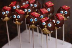 Owl Graduation Cake Pops