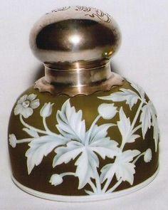Thomas Webb Sons Cameo Glass Inkwell   eBay