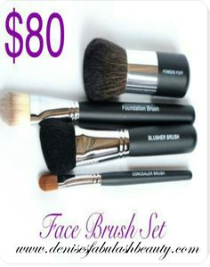 The right brushes are a must. www.denisesfabulashbeauty.com