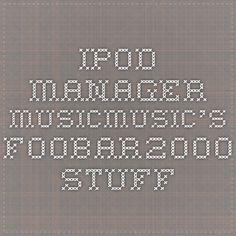 iPod manager - musicmusic's foobar2000 stuff
