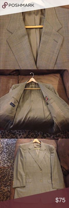 Canali Olive & Gold Glenn Plaid Sport Coat 44L Canali Olive and Gold Glenn Plaid Sport Coat Blazer size 44L Long, 2 Button and no vents! Super 120s wool! Great condition! Please make reasonable offers and bundle! Ask questions! :) Canali Suits & Blazers Sport Coats & Blazers