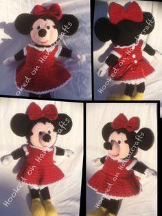 Handmade crochet Minnie Mouse doll Facebook/Hookedonhandicrafts