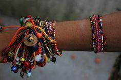 Nasimiyu Jewelery - Each piece is one of a kind using African trade beads African Trade Beads, African Jewelry, Ethnic Jewelry, Antique Jewelry, Handmade Bracelets, Handmade Jewelry, Baubles And Beads, Lampwork Beads, Bead Art