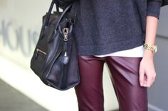 Oxblood pants are a fall staple. #fallfaves