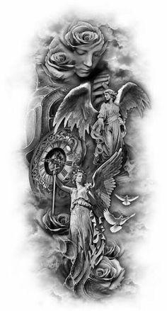 Resultado de imagem para anjo tattoo