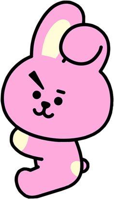 Cookies pink ideas for 2019 Cartoon Wallpaper, Wallpaper Iphone Cute, Bts Wallpaper, Cute Wallpapers, Bts Jungkook, Jungkook Fanart, Cute Cartoon Drawings, Bts Drawings, Bts Sticker