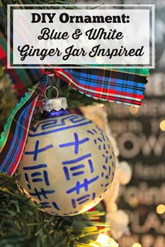 DIY Ornament: Blue & White Ginger Jar Inspired | Southern State of Mind