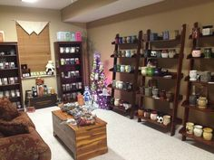 """My Scentsy """"party"""" room - for hostesses that don't want to clean house and would like to use this room to host their parties in.  This is a must have room in my dream house!!!  In the meantime, feel free to shop my website, www.WicklessRedhead.com.  It's got everything there too!!"""