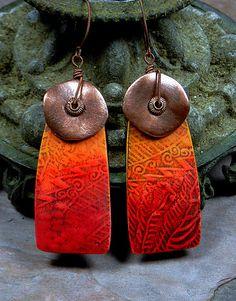 Tellicherry Earrings - Polymer Clay