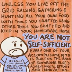 You are not self-sufficient