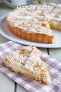 Crostata al Latte e Mandorle cake wedding cake kindergeburtstag ohne backen rezepte schneller cake cake Fruit Recipes, Sweet Recipes, Cake Recipes, Dessert Recipes, Cheesecake, Cake & Co, Sweet Pie, Italian Desserts, Almond Cakes