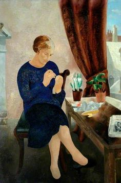 The Manicure (Portrait of Frosca Munster) by Christopher Wood