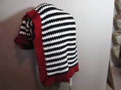 Alabama Crimson Tide Fan Houndstooth Handmade Crochet Blanket   DefiantCreations - Crochet on ArtFire