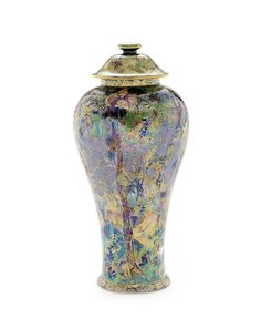 Daisy Makeig-Jones for Wedgwood 'Ghostly Wood' a Fairyland Lustre Vase and Cover, circa 1925