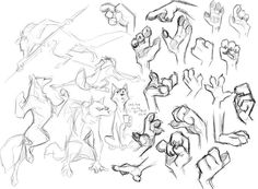 Werewolf anthro poses and paw hands Animal Sketches, Animal Drawings, Art Sketches, Art Drawings, Wolf Poses, Zootopia Art, Creature Drawings, Furry Drawing, Art Poses