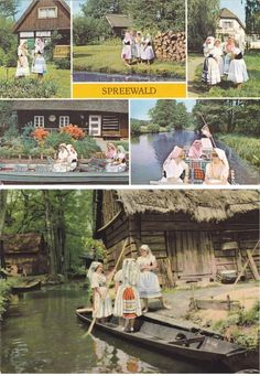 Vintage Costume Postcards  Spreewald  #Spreewald