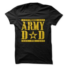 Proud Army Dad - for guys gift. Proud Army Dad, gift friend,couple gift. Father's Day T Shirts, Dad To Be Shirts, Shirts For Girls, Tee Shirts, Sew Tshirt, Party Shirts, Nike Sweatshirts, Hooded Sweatshirts, Hoodies