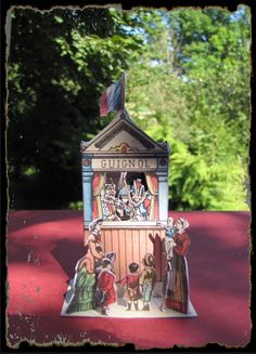 French Miniature Paper Toy Theatre.