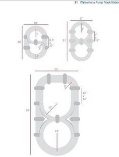 Basic pump track designs