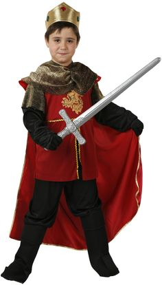 Medieval king costume for boys