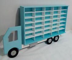 Suporte Porta Carrinhos Coleção Azul Bra Toy Car Storage, Matchbox Car Storage, Kids Wood, Cozy Blankets, Sofa Design, Boy Room, Kids Furniture, Diy For Kids, Kids Bedroom