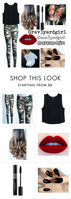 """Grav3yardgirl"" by underthesea29 ❤ liked on Polyvore featuring awesome, camo and grav3yardgirl"
