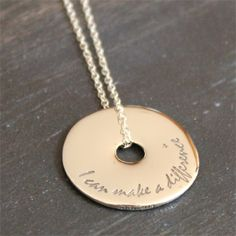I can make a difference Sterling Touchstone Pendant -- ChristianGiftsPlace.com Online Store