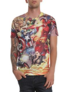 Marvel Civil War T-Shirt from Hot Topic